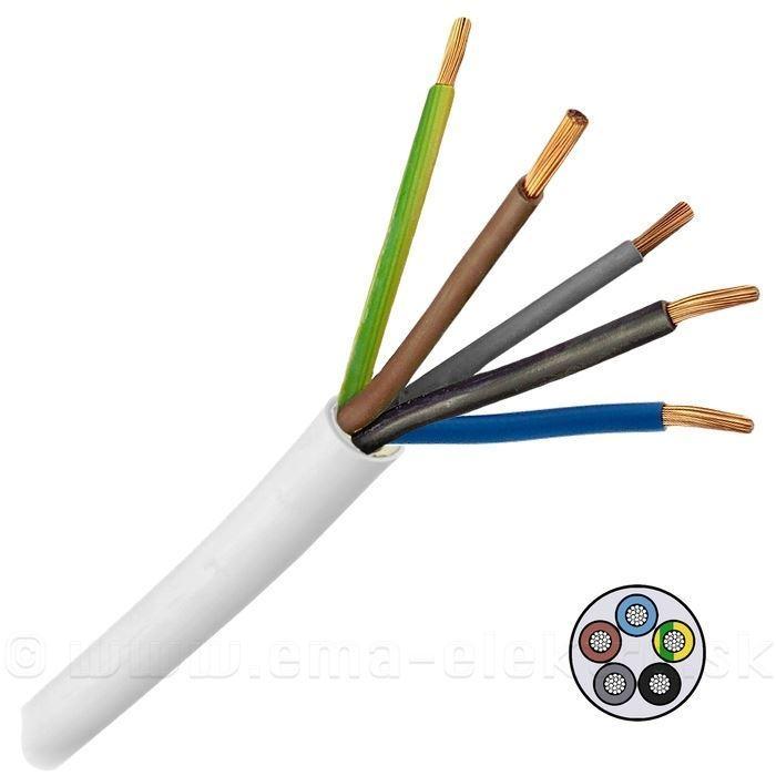Kabel 5x2,5mm2 H05VV-F (CYSY5x2,5mm) zbytek 4,05m DOPRODEJ