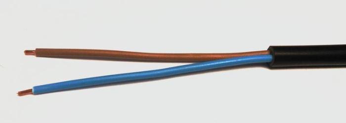 Kabel HO5VVF 2D x 0.75 černý CYSY
