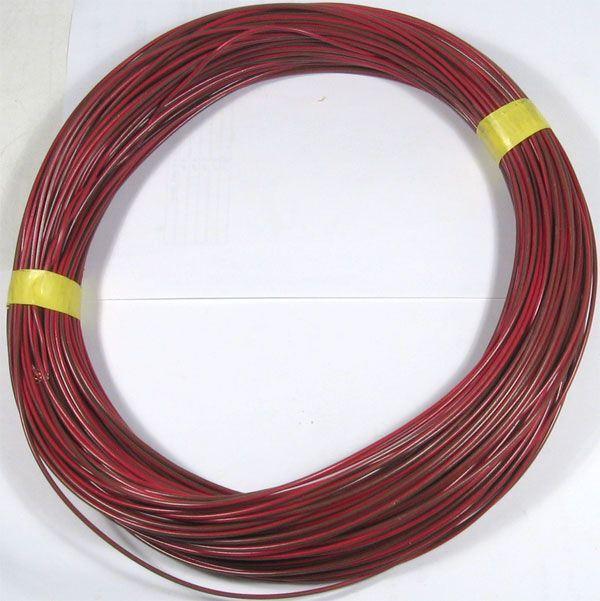 Vodič-lanko 0,5mm2 hnědo-červený , balení 100m
