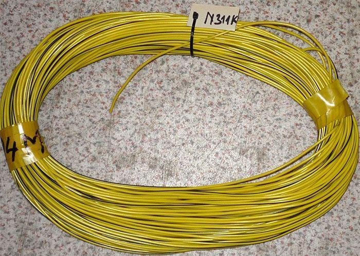 Vodič-lanko měděné 0,75mm2 zeleno-žlutý , balení 100m