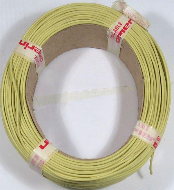Vodič-lanko 0,5mm2 žlutý silikonový, balení 100m