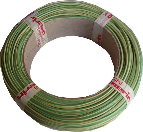 Vodič-lanko 0,75mm2 zeleno-žlutý silikonový, balení 100m