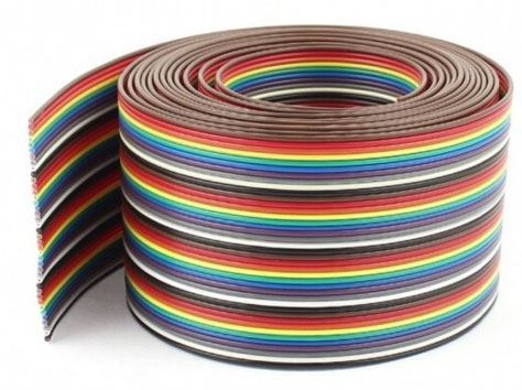 Kabel plochý Dupont  24AWG 40x0,2mm2, rozteč 2,54mm  /PNLY/