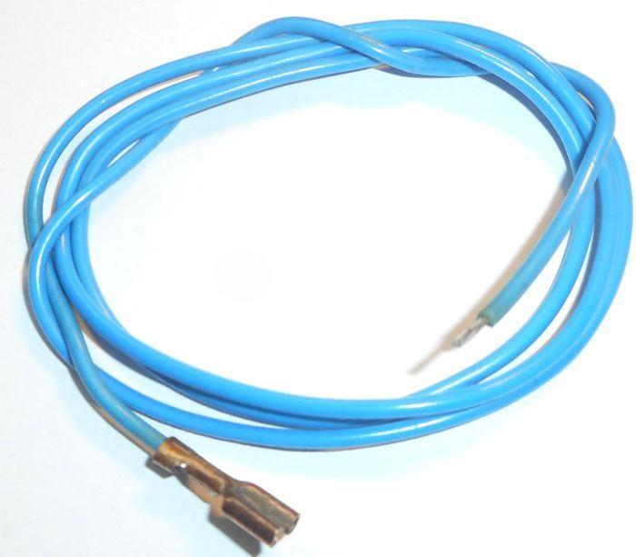 Vodič-lanko 0,75mm2 modrý s fastonem, délka 80cm