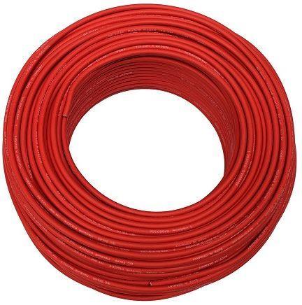 Solární kabel PV1-F, 4mm2, 1kV, červený, balení 100m