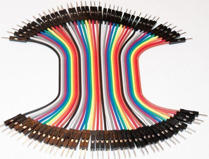 Plochý kabel Dupont  40pin, l=10cm, samec-samec