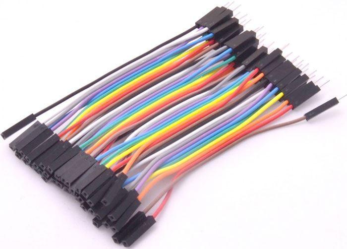 Plochý kabel Dupont  40pin, l=10cm, samec-samice