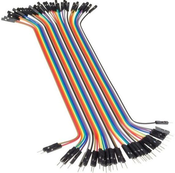 Plochý kabel Dupont  40pin, l=20cm, samec-samice