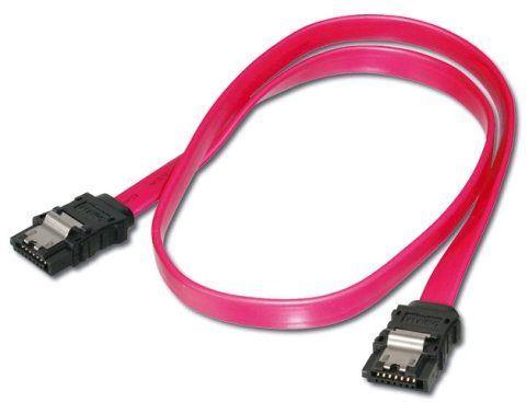 Kabel SATA 0,45m s kovovou západkou