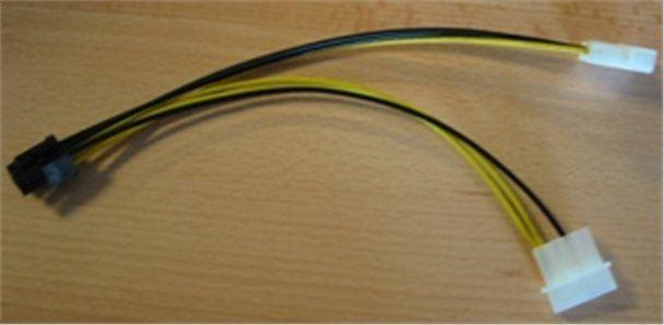 Redukce 6 PIN konektoru pro PCI-E karty ze zdroje