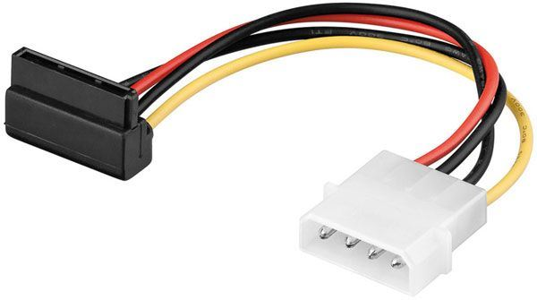 Napájecí kabel SATA rovný / úhlový