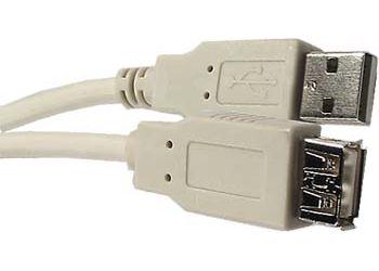 Kabel USB 2.0 konektor A / zdířka A 1,8m