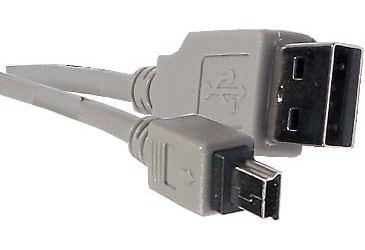 Kabel USB 2.0 konektor USB A / MINI-USB B (5 pinů) 1,8m
