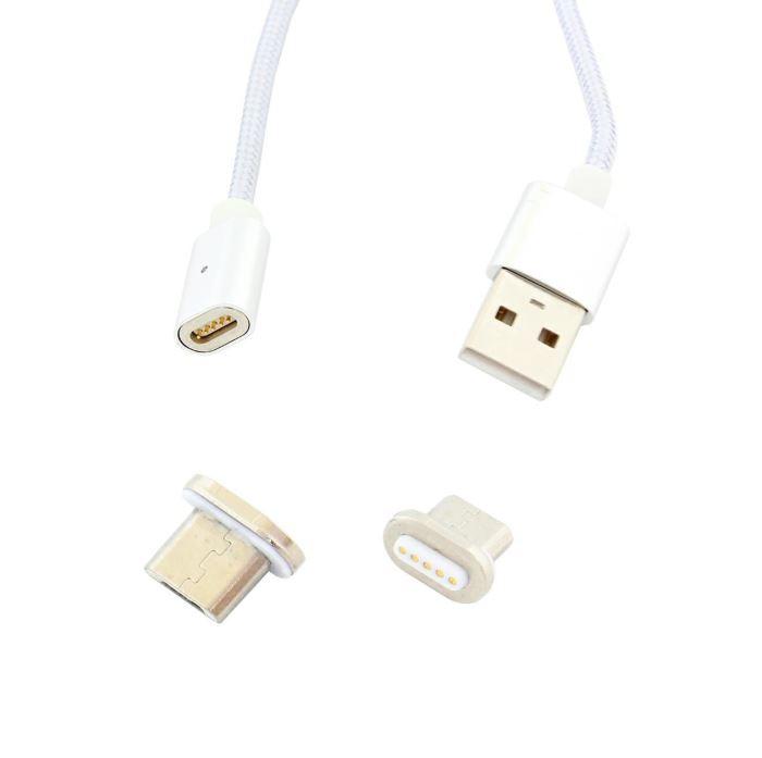 Nabíjecí kabel USB A / USB micro s magnetickou koncovkou