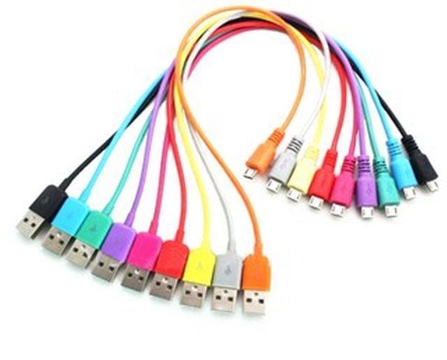 Kabel USB 2.0 konektor USB A / MICRO USB 1m červený