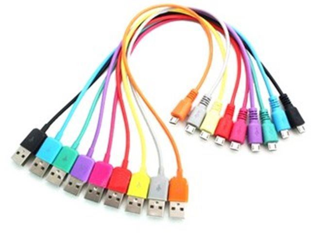 Kabel USB 2.0 konektor USB (A) / MICRO USB 1m fialový
