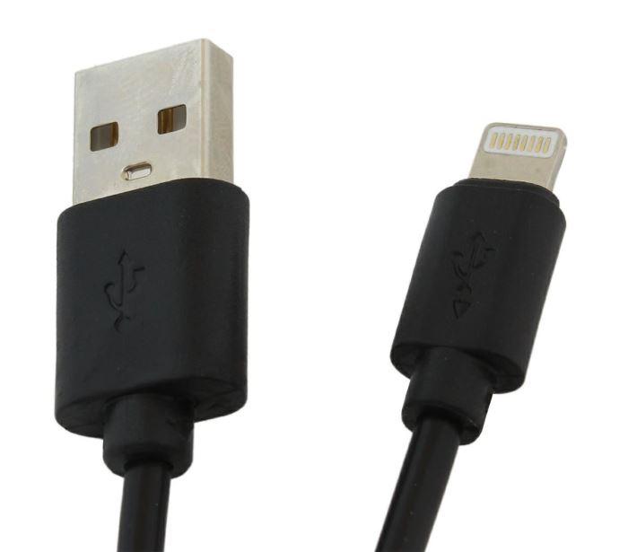 Kabel USB 2.0 - Lightning, délka 1m, černý