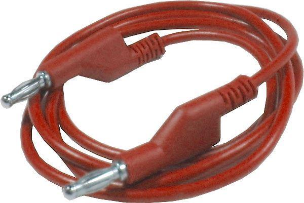 Propojovací kabel 1mm2/ 1m s banánky červený