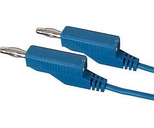 Propojovací kabel 0,35mm2/ 1m s banánky modrý