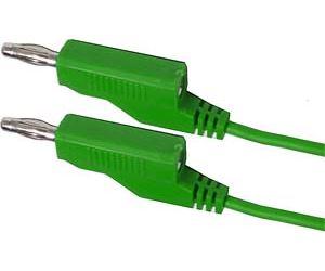 Propojovací kabel 0,35mm2/ 1m s banánky zelený