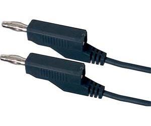 Propojovací kabel 0,35mm2/ 0,5m s banánky černý