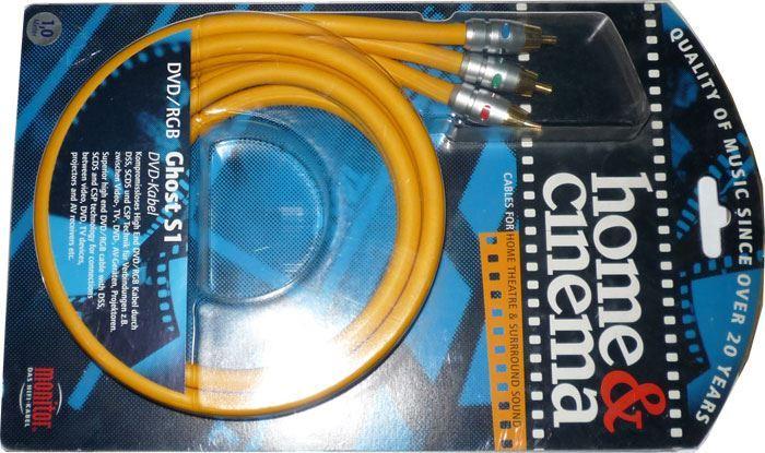 3xCinch - 3xCinch 1m, kabel Inakustik GHOST S1 RGB