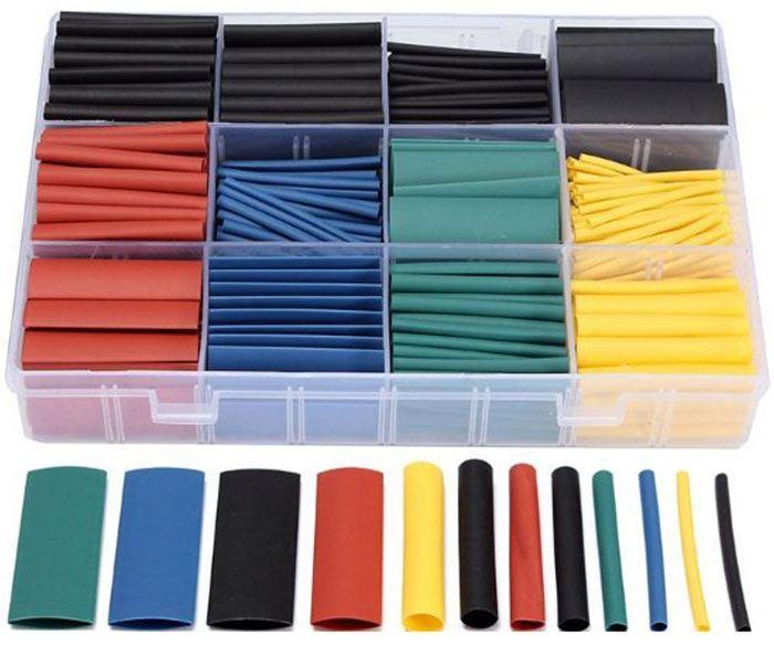 Smršťovací bužírky barevné 1,5-10mm, sada 530ks