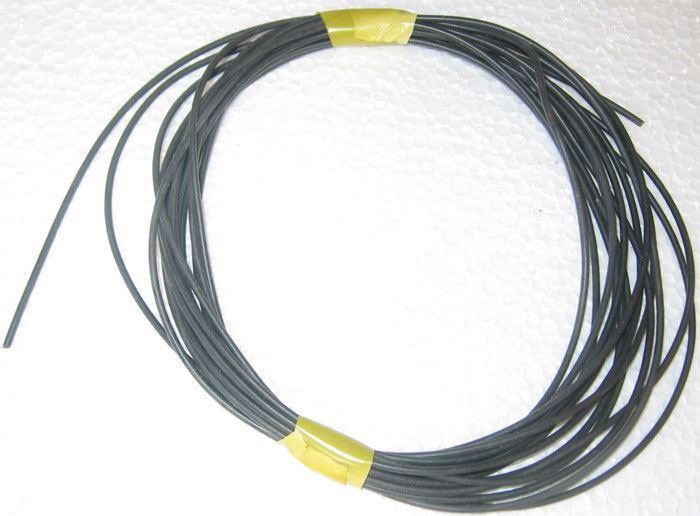 Silikonová bužírka Kablo 068 1x0,25mm černá, balení 4m