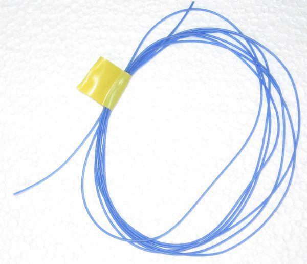Silikonová bužírka Kablo 068 0,5x0,25mm modrá, balení 2m