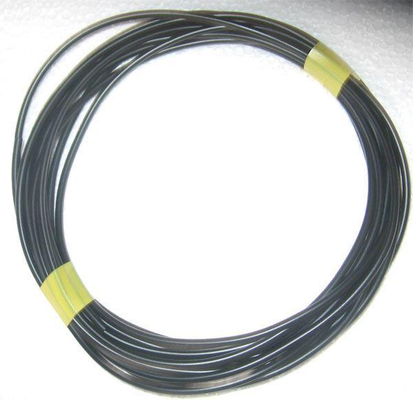 Izolační a ochranná bužírka Kablo 041 2x0,5mm, černá, balení 5m