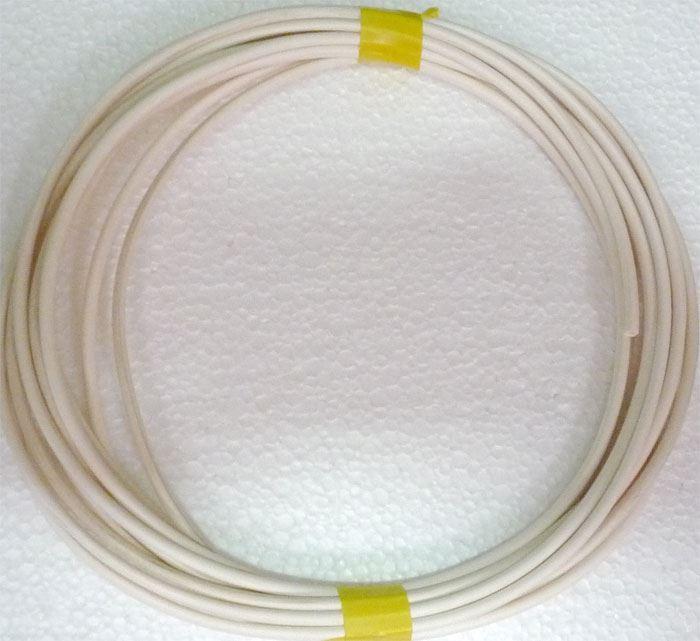 Izolační a ochranná bužírka Kablo 042 3x0,5mm, bílá, balení 5m