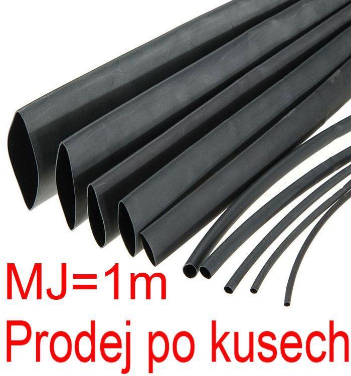 Smršťovací bužírka 2,0/1,0mm černá, balení 1m