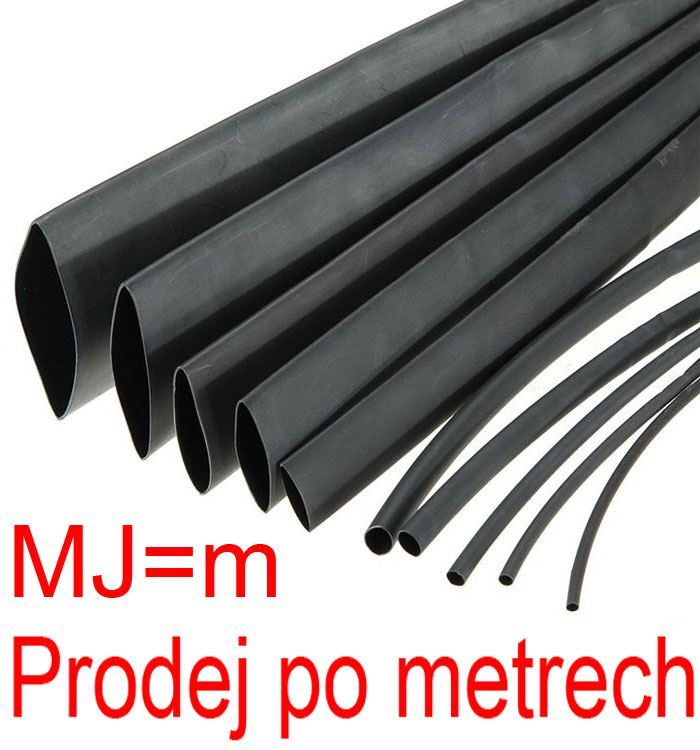 Smršťovací bužírka 12,0/6,0mm černá