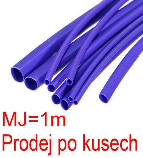 Smršťovací bužírka 3,0/1,5mm modrá, balení 1m