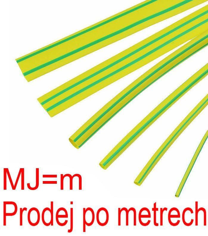 Smršťovací bužírka 10,0/5,0mm žlutozelená