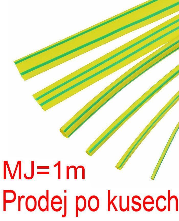 Smršťovací bužírka 8,0/4,0mm žlutozelená, balení 1m