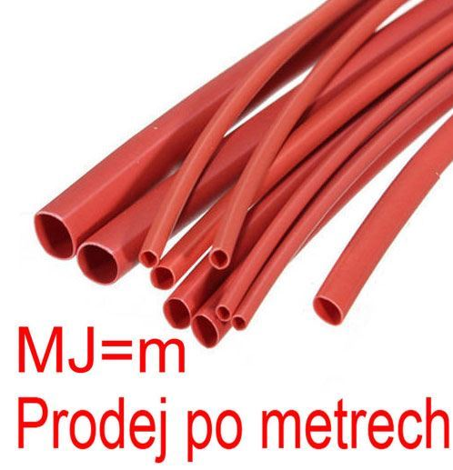 Smršťovací bužírka 6,0/3,0mm červená