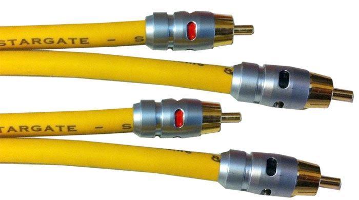 2xCinch-2xCinch 1,2m, kabel 8mm, Inakustik STARGATE S1