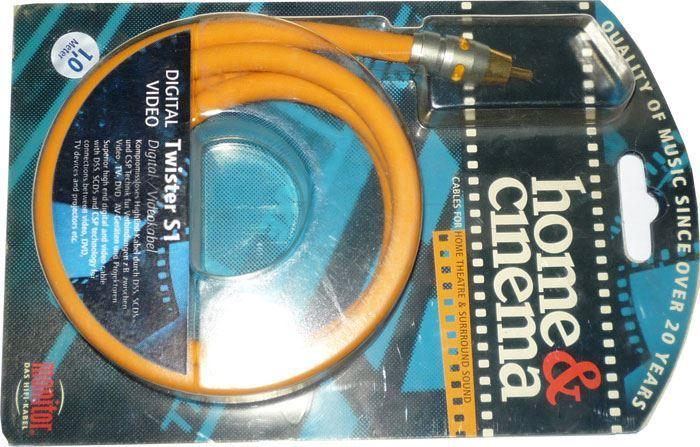 Cinch-Cinch 1m, kabel 8mm, Inakustik TWISTER S1