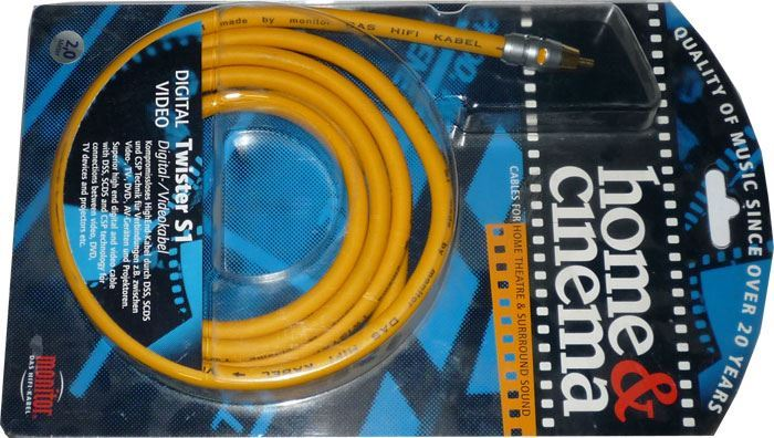 Cinch-Cinch 2m, kabel 8mm, Inakustik TWISTER S1