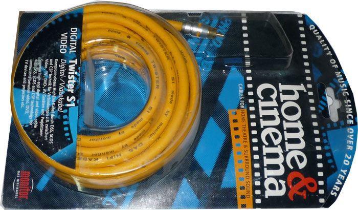 Cinch-Cinch 5m, kabel 8mm, Inakustik TWISTER S1