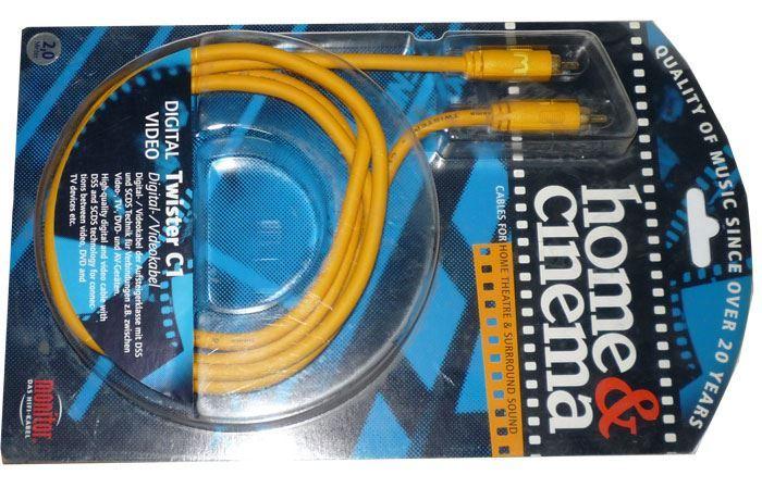 Cinch-Cinch 2m, kabel 8mm, Inakustik TWISTER C1