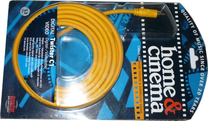 Cinch-Cinch 5m, kabel 8mm, Inakustik TWISTER C1