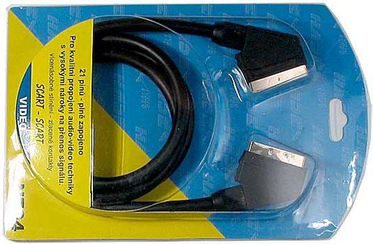 Kabel Scart-Scart HiFi plast 1,5m