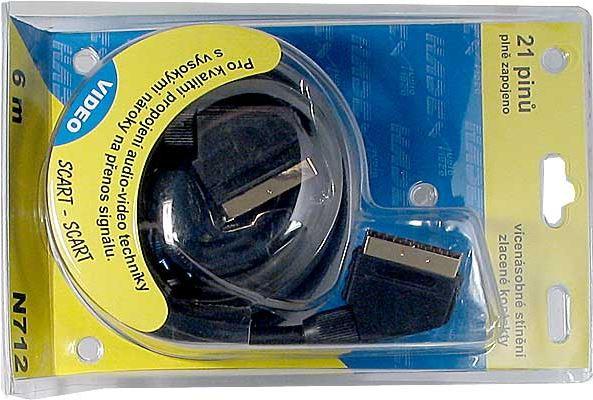 Kabel Scart-Scart  6m HiFi plast 2x stínění