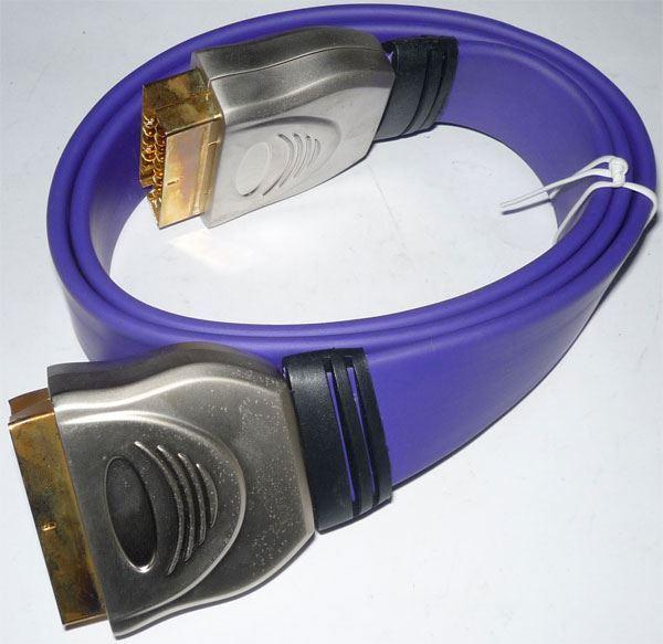 Scart-Scart profi,1m plochý kabel
