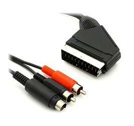 Kabel scart-S VHS+2xCinch stereo      12m
