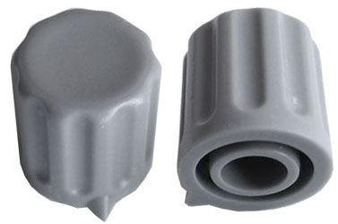 Přístrojový knoflík KP1406, 14x15mm, hřídel 6mm, šedý s šipkou