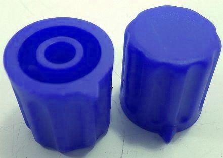 Přístrojový knoflík KP1404, 14x15mm, hřídel 4mm, modrý