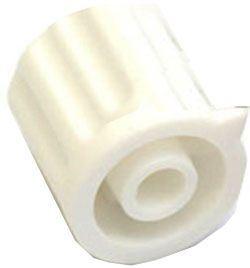 Přístrojový knoflík KP1404, 14x15mm, hřídel 4mm, bílý